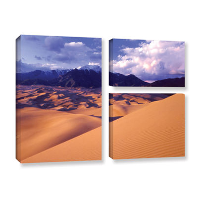 Brushstone Great Sand Dunes 3-pc. Flag Gallery Wrapped Canvas Wall Art