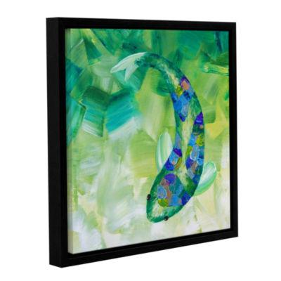 Brushstone Greenkoi Gallery Wrapped Floater-FramedCanvas Wall Art