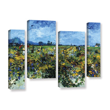 Brushstone Green Vineyard 4-pc. Gallery Wrapped Staggered Canvas Wall Art