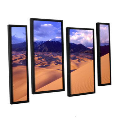 Brushstone Great Sand Dunes 4-pc. Floater Framed Staggered Canvas Wall Art