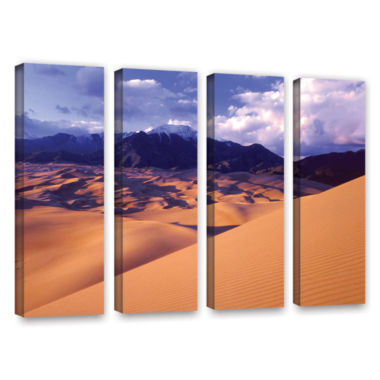 Brushstone Great Sand Dunes 4-pc. Gallery WrappedCanvas Wall Art