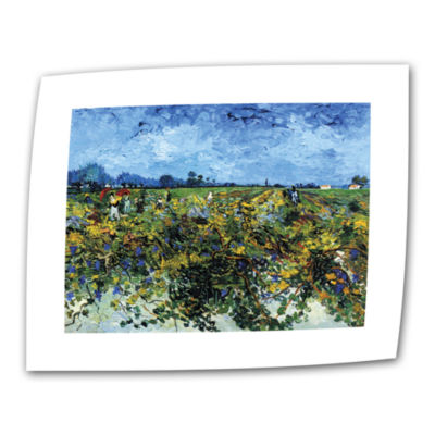 Brushstone Green Vineyard Canvas Wall Art