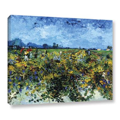 Brushstone Green Vineyard Gallery Wrapped Canvas Wall Art