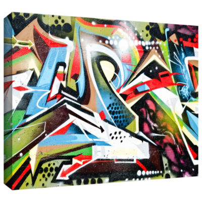 Brushstone Grafit 65 Gallery Wrapped Canvas Wall Art