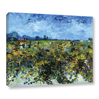 Brushstone Green Vineyard Gallery Wrapped Canvas Wall Art