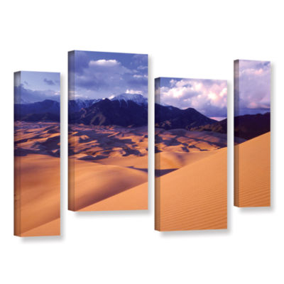 Brushstone Great Sand Dunes 4-pc. Gallery WrappedStaggered Canvas Wall Art