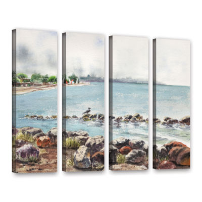 Brushstone Hazy Morning Crab Cove 4-pc. Gallery Wrapped Canvas Wall Art