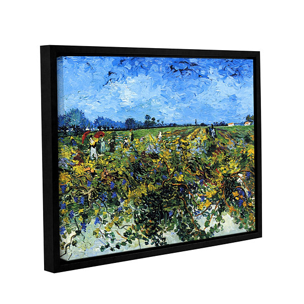 Brushstone Green Vineyard Gallery Wrapped Floater-Framed Canvas Wall Art