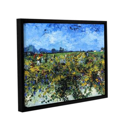 Brushstone Green Vineyard Gallery Wrapped Floater-Framed Canvas Wall Art