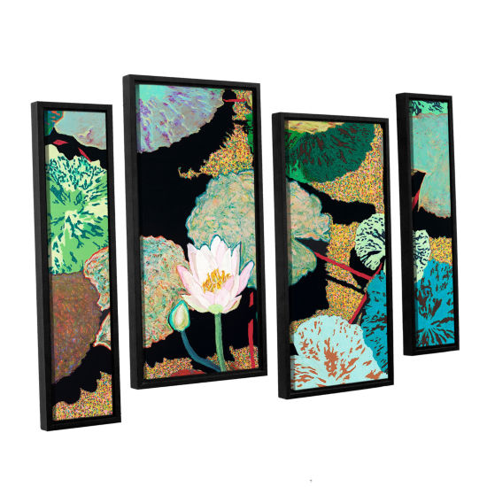 Brushstone Hot And Humid 4-pc. Floater Framed Staggered Canvas Wall Art