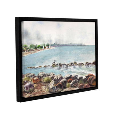 Brushstone Hazy Morning Crab Cove Gallery WrappedFloater-Framed Canvas Wall Art