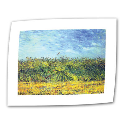 Brushstone Green Wheatfields Canvas Wall Art