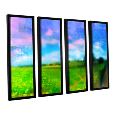 Brushstone Homeland 4-pc. Floater Framed Canvas Wall Art