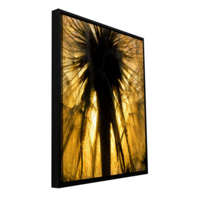 Brushstone Heart Of The Lion-Dandelion Gallery Wrapped Floater-Framed Canvas Wall Art