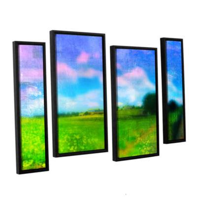 Brushstone Homeland 4-pc. Floater Framed StaggeredCanvas Wall Art