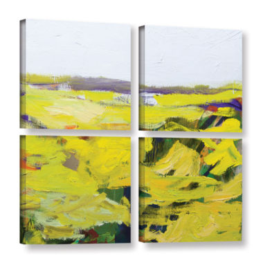 Brushstone Hot And Dry 4-pc. Square Gallery Wrapped Canvas Wall Art