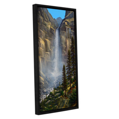 Brushstone Great Falls Gallery Wrapped Floater-Framed Canvas Wall Art