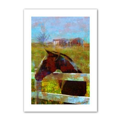 Brushstone Horse Field Canvas Wall Art