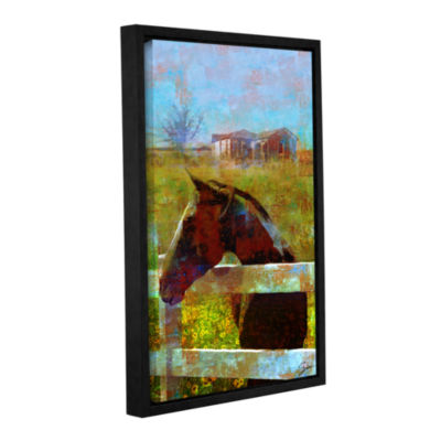 Brushstone Horse Field Gallery Wrapped Floater-Framed Canvas Wall Art