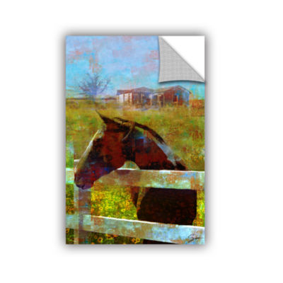 Brushstone Horse Field Removable Wall Decal