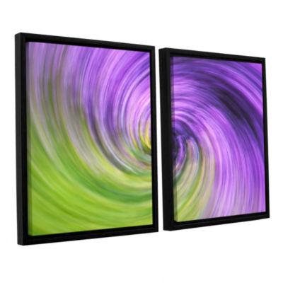 Brushstone Heather Spiral 2-pc. Floater Framed Canvas Wall Art