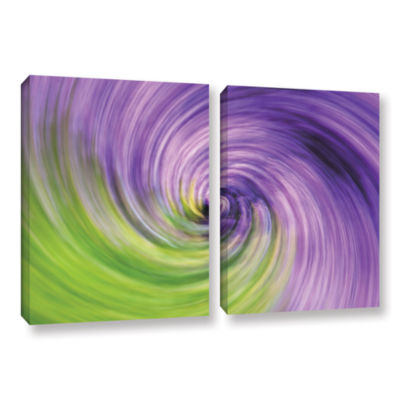 Brushstone Heather Spiral 2-pc. Gallery Wrapped Canvas Wall Art
