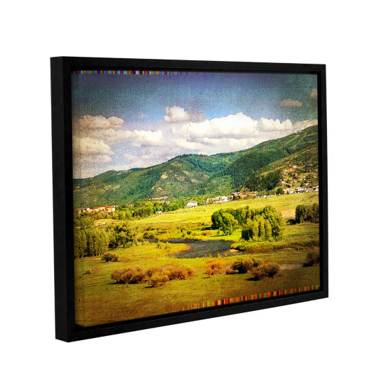 Brushstone Hills Gallery Wrapped Floater-Framed Canvas Wall Art