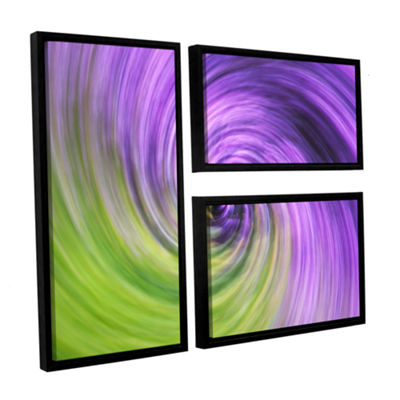 Brushstone Heather Spiral 3-pc. Flag Floater Framed Canvas Wall Art