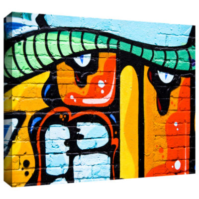 Brushstone Graffiti 33 ! Big Gallery Wrapped Canvas Wall Art