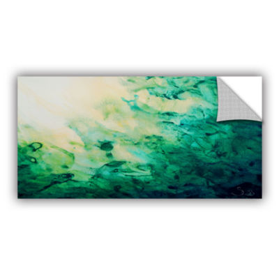 Brushstone Green Watery Abstract Removable Wall Decal