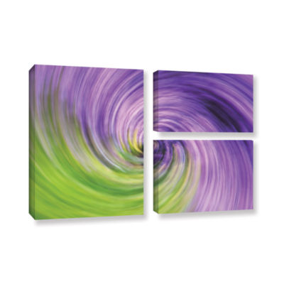 Brushstone Heather Spiral 3-pc. Flag Gallery Wrapped Canvas Wall Art