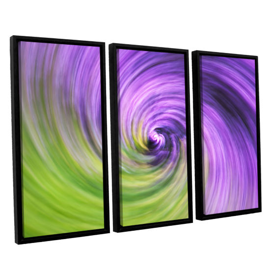 Brushstone Heather Spiral 3-pc. Floater Framed Canvas Wall Art