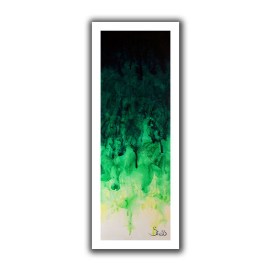 Brushstone Green Watery Canvas Wall Art
