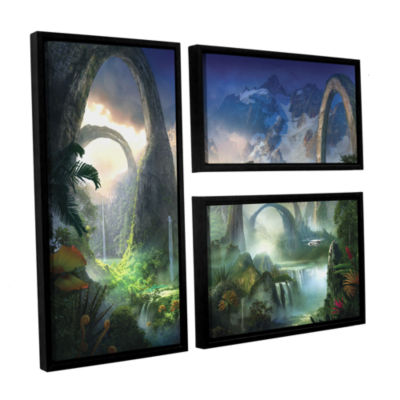 Brushstone Great North Road 3-pc. Flag Floater Framed Canvas Wall Art