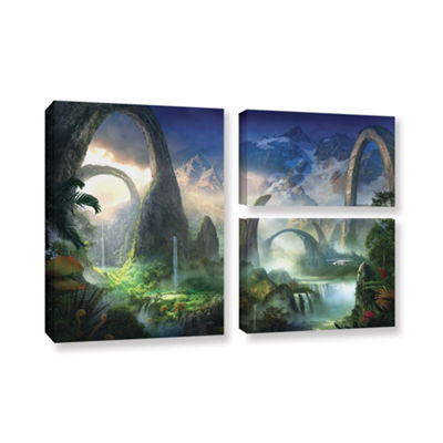 Brushstone Great North Road 3-pc. Flag Gallery Wrapped Canvas Wall Art