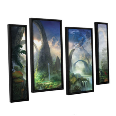 Brushstone Great North Road 4-pc. Floater Framed Staggered Canvas Wall Art