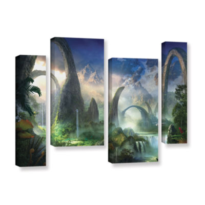 Brushstone Great North Road 4-pc. Gallery WrappedStaggered Canvas Wall Art