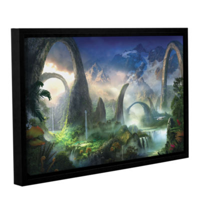 Brushstone Great North Road Gallery Wrapped Floater-Framed Canvas Wall Art