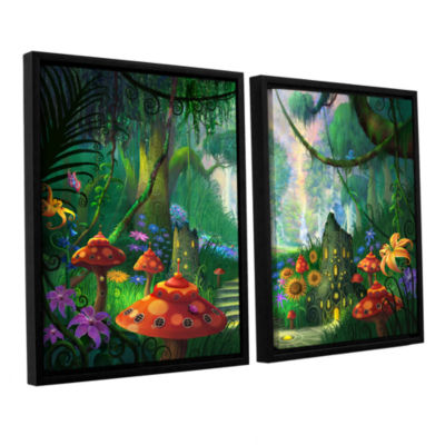 Brushstone Hidden Treasure 2-pc. Floater Framed Canvas Wall Art