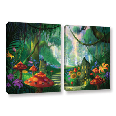 Brushstone Hidden Treasure 2-pc. Gallery Wrapped Canvas Wall Art