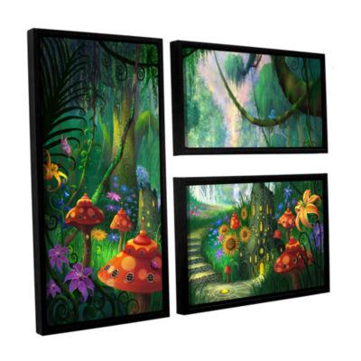 Brushstone Hidden Treasure 3-pc. Flag Floater Framed Canvas Wall Art