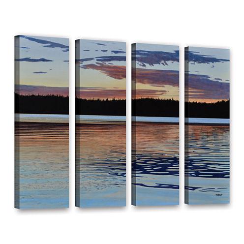 Brushstone Graham Lake 4-pc. Gallery Wrapped Canvas Wall Art