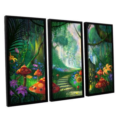 Brushstone Hidden Treasure 3-pc. Floater Framed Canvas Wall Art