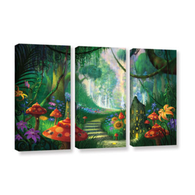 Brushstone Hidden Treasure 3-pc. Gallery Wrapped Canvas Wall Art