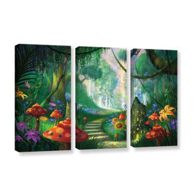 Brushstone Hidden Treasure 3-pc. Gallery Wrapped Canvas Wall Art