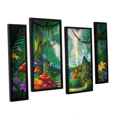 Brushstone Hidden Treasure 4-pc. Floater Framed Staggered Canvas Wall Art