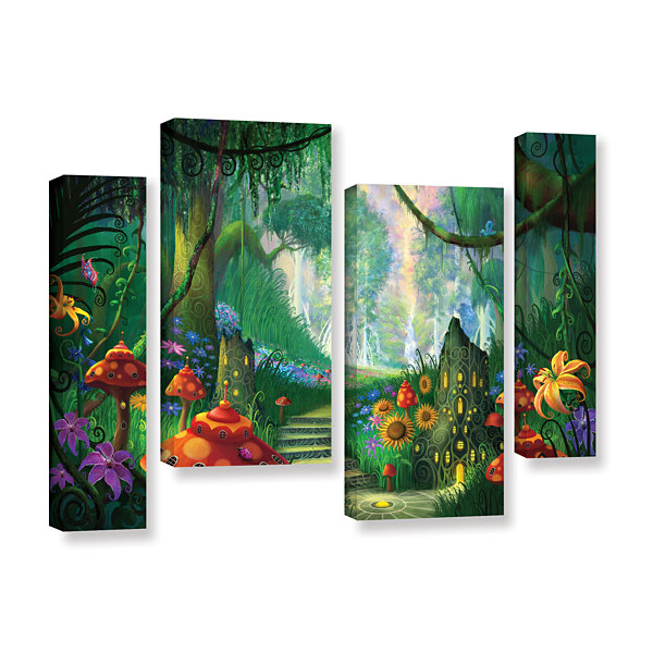 Brushstone Hidden Treasure 4-pc. Gallery Wrapped Staggered Canvas Wall Art