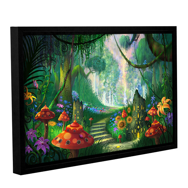 Brushstone Hidden Treasure Gallery Wrapped Floater-Framed Canvas Wall Art