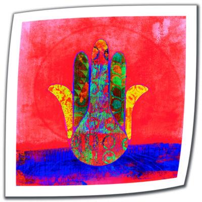 Brushstone Hand Of Fatima Canvas Wall Art
