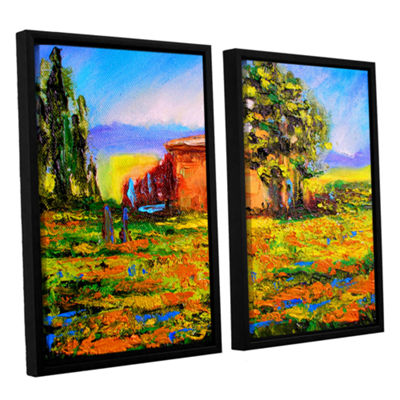 Brushstone Prarie Palace 2-pc. Floater Framed Canvas Wall Art